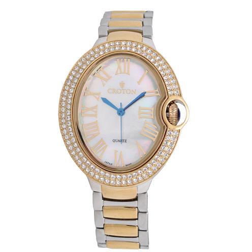 Croton Womens Two Tone Bracelet Watch-Cn207566ttmp
