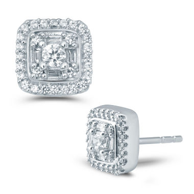 jcpenney.com | 1/2 CT. T.W. Round White Diamond 10K Gold Stud Earrings
