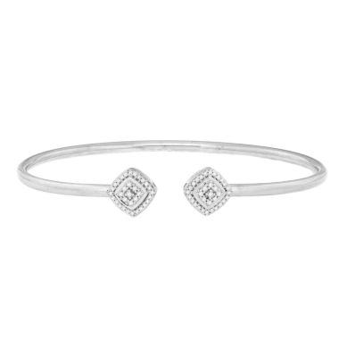 jcpenney.com | 1/4 CT. T.W. White Diamond Bangle Bracelet