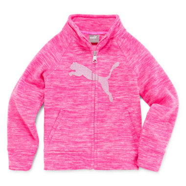 jcpenney.com | Puma Girls Hoodie Spacedye Zip Jacket-Preschool