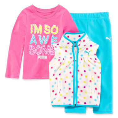 jcpenney.com | Puma Girls 3-pc. Sleeveless Pant Set-Toddler