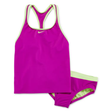 jcpenney.com | Nike Girls Solid Tankini Set - Big Kid