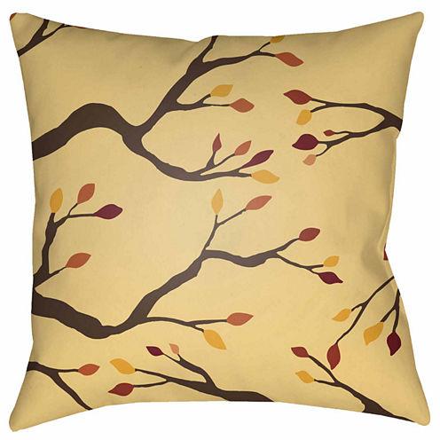 Decor 140 Autumn Branches Square Throw Pillow