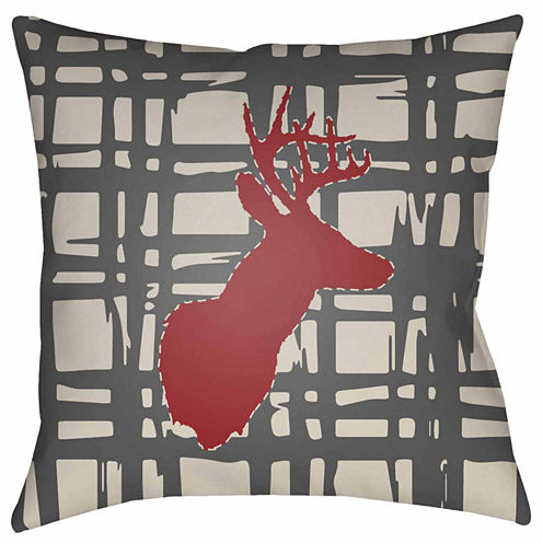 Decor 140 Plaid Stag Square Throw Pillow