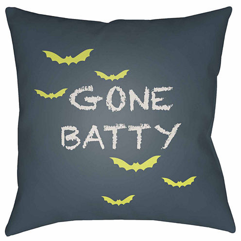Decor 140 Gone Batty Square Throw Pillow