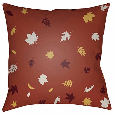 Jcpenney Red Decorative Pillows : Decor 140 Falling Leaves Square Throw Pillow - JCPenney