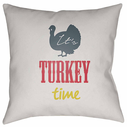 Decor 140 It'S Turkey Time Square Throw Pillow