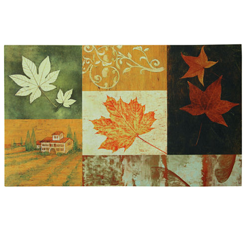 "Bacova Harvest Leaves Rectangular Rug - 18""X30"""