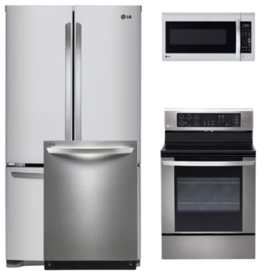 jcpenney.com | LG 4-pc. Electric Kitchen Package- Black Stainless