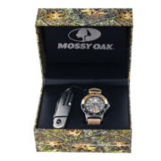 Mossy Oak® Mens Knife and Beige Leather Watch Set