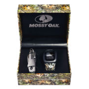 Mossy Oak® Mens Knife and Green/Brown Leather Watch Set