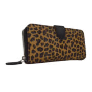 Liz Claiborne® Zip-Around Tab Wallet