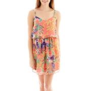 Love Reigns Short-Sleeve Chiffon Popover Dress