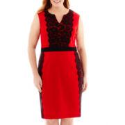 Danny & Nicole® Sleeveless Lace-Panel Dress - Plus