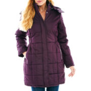 KC Collections Quilted Puffer Bus Stop Coat