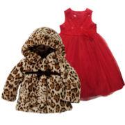 Marmellata Ballerina Dress or Faux Fur Animal-Print Jacket - Girls 2t-6t