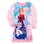 Disney Frozen Long-Sleeve Gown - Girls 4-8