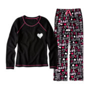 Total Girl® Fleece Sleep Pants or Thermal Sleep Shirt - Girls 4-20