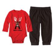 Okie Dokie® Long-Sleeve Bodysuit or Grow Cuff Pants – Boys newborn-24m