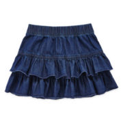 Okie Dokie® Denim Skirt - Girls 2t-5t