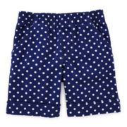 Okie Dokie® Dot Cuffed Shorts - Toddler Girls 2t-5t