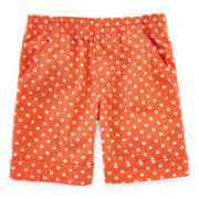 Okie Dokie® Dot Cuffed Shorts - Girls 2t-5t