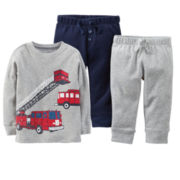 Carter's® Thermal Fire Truck Tee or 2-pk. Pants – Boys