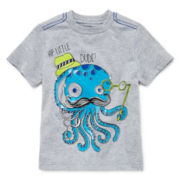 Okie Dokie® Short-Sleeve Graphic Knit Tee – Boys 2t-6