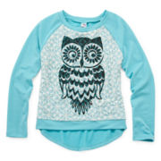 Knit Works High-Low Lace-Front Pullover - Girls 7-16 and Plus