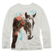Arizona Graphic Sweater - Girls 7-16 and Plus