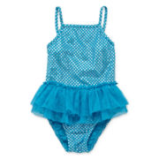 Baby Buns One-Piece Tutu Swimsuit - Girls 3t-5t