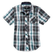 Zoo York® Short-Sleeve Button-Front Plaid Shirt - Boys 8-20