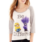 Despicable Me 2 3/4-Sleeve Minions Graphic Tee