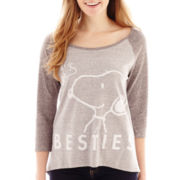Peanuts Snoopy 3/4-Sleeve Graphic Tee