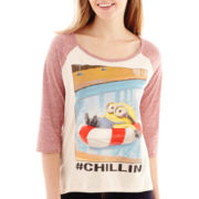 Despicable Me 2 3/4-Sleeve Throwback Minion Graphic Tee
