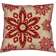 Snowflake Decorative Pillow