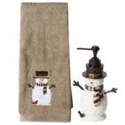Woodcut Snowman Bath Collection