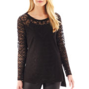 nicole by Nicole Miller® Long-Sleeve Burnout Top