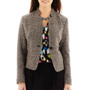 Liz Claiborne® 1-Button Tweed Jacket