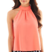 Bisou Bisou® Sleeveless Tie-Back Crop Top