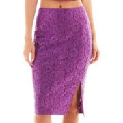 Bisou Bisou® Lace Pencil Skirt