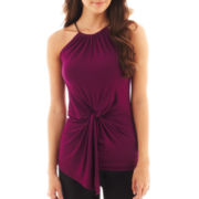 Bisou Bisou® Sleeveless Twist-Front Top