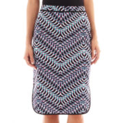 Bisou Bisou® Piped Print Pencil Skirt