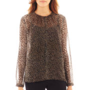 MNG by Mango® Long-Sleeve Animal Print Blouse