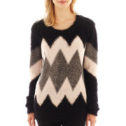 i jeans by Buffalo Long-Sleeve Zig-Zag Sweater