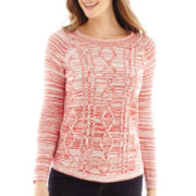 St. John's Bay® Marled Cable Sweater