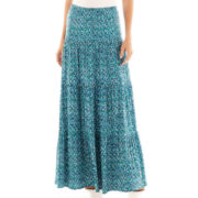 St. John's Bay® Long Tiered Knit Skirt