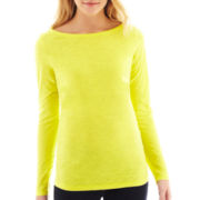 jcp™ Long-Sleeve Boatneck Tee