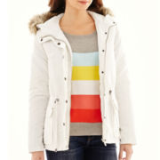 Liz Claiborne® Faux Fur-Trim Anorak Jacket