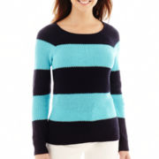 Liz Claiborne® Long-Sleeve Rugby Striped Sweater
